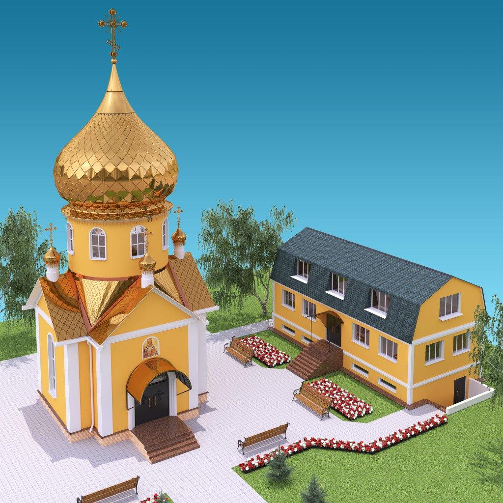 Планировка воскресной школы при храме в честь святителя Луки Крымского (город Купянск)