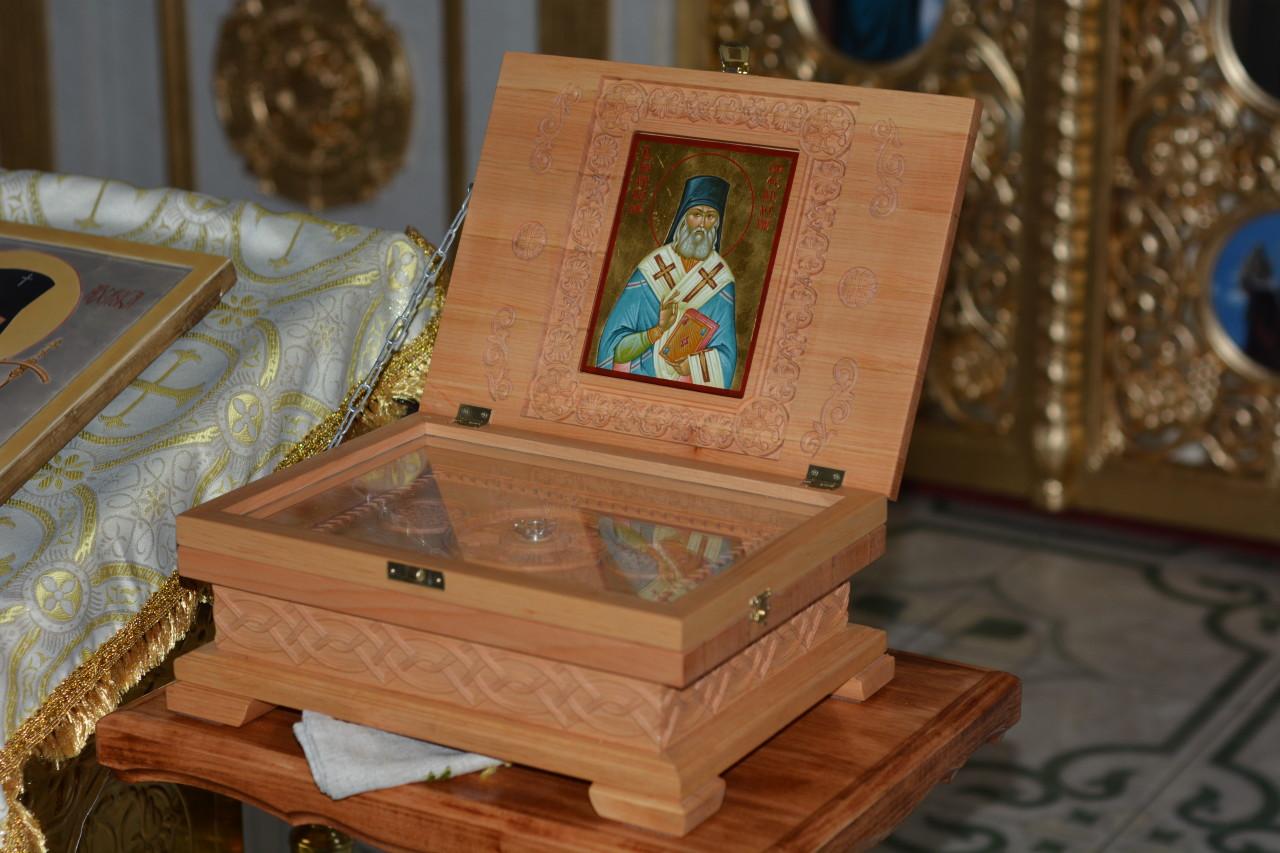 Святыня храма в честь святителя Луки Крымского (город Купянск) - мощи святителя